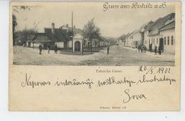 TCHÉQUIE - Gruss Aus BISTRITZ Am Hostein - Fabricks Gasse (1902) - Tchéquie