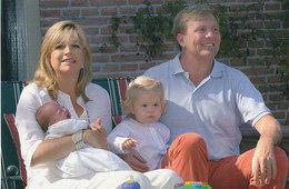 DP00611 - NETHERLANDS - DUTCH ROYALTY - PRINCE WILLEM-ALEXANDER PRINCESS MAXIMA - AMALIA ALEXIA CP ORIG. ROYAL PRESS 221 - Familles Royales