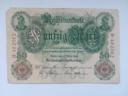 50 Mark Banknote Aus Deutschland Von 1906 (sehr Schön) - [ 2] 1871-1918 : Duitse Rijk