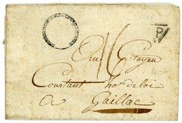 """PARIS LAC 5 VENTOSE AN 3 (23/02/1795) CONTRESEING LENAIN N°82 ECHOPPE DES 3 LYS ET ROYAL  """"BUREAU ... CORRESPONDANCE GEN - Marcophilie (Lettres)"""