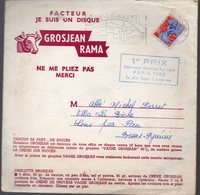 Lons Le Saulnier (39 Jura)  Lot De 3 Disques Souples Publicitaire Sous Enveloppe D'expédition GROSJEAN RAMA (PPP10106) - Publicités