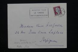 FRANCE - Marianne De Decaris Issus De Roulette Sur Enveloppe De Perpignan En 1963 - L 21297 - Marcophilie (Lettres)