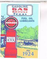 PUBLICITE CPM   POMPE A ESSENCE  GAS  1924 - Publicité