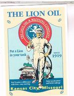 PUBLICITE CPM   POMPE A ESSENCE  THE LION OIL  1919 - Publicité