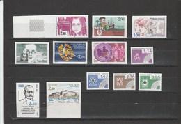 Collection De 12 Timbres Non Dentelés De France - Année 1984 **(MNH) - Frankrijk