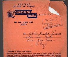 Lons Le Saulnier (39 Jura)  Lot De 4 Disques Souples Publicitaire Sous Enveloppe D'expédition GROSJEAN RAMA (PPP10108) - Publicités