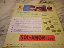 ANCIENNE PUBLICITE DU NOUVEAU SOUS LE SOLEIL LUNETTE DE PARIS AMOR 1953 - Habits & Linge D'époque
