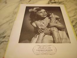 ANCIENNE PUBLICITE STUDIO D ART GALERIES LAFAYETTE 1952 - Publicités