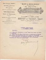 Facture Illustrée 8/2/1929 BOUVET & VACHEY Bleu & Noir Au Neptune - Encre  TOURNUS Saône Et Loire - France