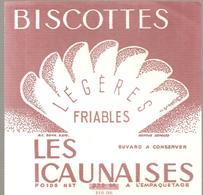 Buvard LES ICANAISES Biscottes Légères Friables - Biscottes