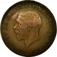 Monnaie, Grande-Bretagne, George V, 1/2 Penny, 1930, TB, Bronze, KM:837 - 1902-1971 : Monnaies Post-Victoriennes