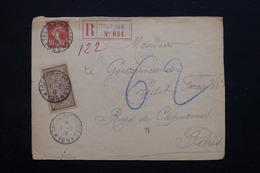 FRANCE - Enveloppe En Recommandé Du Secteur Postal 165 Pour Paris En 1918 - L 21300 - Guerre De 1914-18
