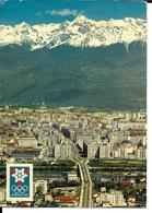 JEUX OLYMPIQUES HIVER GRENOBLE 1968 OLYMPICS WINTER GAMES - VUE GENERALE GRENOBLE CHAINE DE BELLEDONNE - Jeux Olympiques