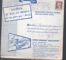 Lons Le Saulnier (39 Jura)  Lot De 3 Disques Souples Publicitaire Sous Enveloppe D'expédition GROSJEAN RAMA (PPP10109) - Publicités