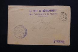 FRANCE - Enveloppe Du Dépôt De Prisonniers De Guerre De Poitiers Pour Princay En 1919 - L 21301 - Guerre De 1914-18