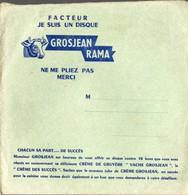 Lons Le Saulnier (39 Jura)  Lot De 4 Disques Souples Publicitaire Sous Enveloppe D'expédition GROSJEAN RAMA (PPP10110) - Publicités