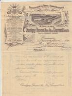 Facture Illustrée 2 Pages 4/6/1915 CHARDIGNY THEVENET CHARMOND Tapis Et Tissus Végétaux MÂCON Saône Et Loire - France