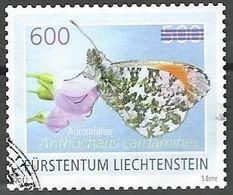 """Liechtenstein 2012: Aufdruck """"600"""" Auf Aurora-Falter (Anthocharis Cardamines) Zu 1602 Mi 1652 Yv 1592 O Zu CHF 15.00) - Papillons"""