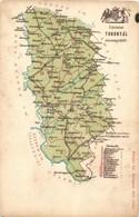 * T3 1900 Torontál Vármegye Térképe; Kiadja Károlyi Gy. / Map Of Torontál County (kopott Sarkak / Worn Corners) - Ansichtskarten
