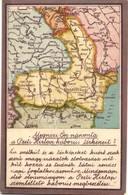 ** T2/T3 Megnézi Ön Naponta A Pesti Hírlap Háborús Térképeit? A Romániai Háború Térképe; Kiadja A Pesti Hírlap / WWI Map - Ansichtskarten