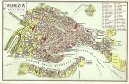 ** T1/T2 Venezia / Venice Map, Local Attractions Marked With Numbers - Ansichtskarten