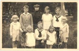 ** T1/T2 Zita Királynő és A Gyerekei / Zita Of Bourbon-Parma With Her Children. Schumann Photo - Ansichtskarten