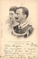 T2/T3 Victor Emmanuel III Of Italy And Elena. Menotti Bassani & C. Milano (EK) - Ansichtskarten