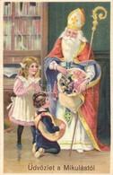 ** T1/T2 Üdvözlet A Mikulástól / Saint Nicholas. Import 226. 2169. Litho - Ansichtskarten
