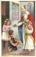 ** T1 Üdvözlet A Mikulástól! / Saint Nicholas. Litho - Ansichtskarten