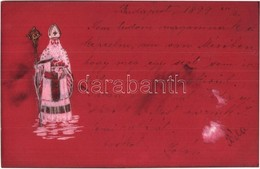 T3 1899 Mikulás / Saint Nicholas. Emb.  (fl) - Ansichtskarten