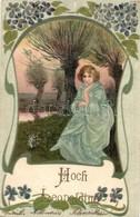 T2 'Hoch Leopoldine!' / Nameday Greeting Card, Litho - Ansichtskarten