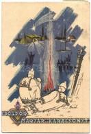 T2/T3 Boldog Magyar Karácsonyt! / Hungarian Christmas Irredenta Art Postcard. S: Bozó (EK) - Ansichtskarten