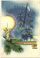 T2/T3 Boldog Ünnepeket! / Hungarian Christmas And New Year Irredenta Art Postcard. S: Bozó (EK) - Ansichtskarten