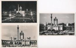 ** 1938 Budapest, XXXIV. Nemzetközi Eucharisztikus Kongresszus, Főoltár - 3 Db Régi Képeslap / 3 Pre-1945 Postcards Of T - Ansichtskarten