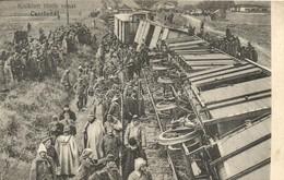 ** T2/T3 Kisiklott Török Vonat Csorlunál; Vasúti Szerencsétlenség / Derailed Turkish Train Near Corlu; Railway Accident, - Ansichtskarten