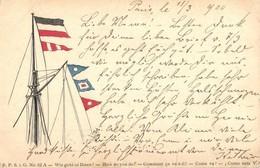 T2/T3 1900 Wie Geht Es Ihnen? / How Do You Do? Ship Flags. F.P.S.i. G. Nr. 52. A.  (EK) - Ansichtskarten