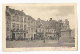 Wavre Place Du Sablon Carte Postale Ancienne Animée - Wavre