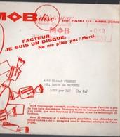 Amiens (80 Somme)  1 Disque Souple Publicitaire Sous Enveloppe D'expédition MOB Disc (PPP10111) - Publicités