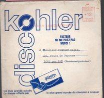 Nanterre :  1 Disque Souple Publicitaire Sous Enveloppe D'expédition KOHLER  (PPP10112) - Publicités