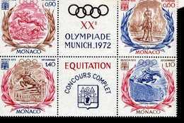 Monaco 1045 - 1048 Olympische Sommerspiele MNH Postfrisch ** - Bloques