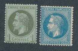 CL-1: FRANCE: Lot Avec N°25**GNO-29B**GNO - 1863-1870 Napoléon III Lauré