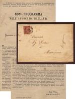 CUPRAMARITTIMA D.c.14/10/1876  Su 2 C. LETTERA AVV.BALLANTI AL SINDACO POSSENTI SU CANDIDATURA ALLE ELEZIONI POLITICHE.T - Storia Postale