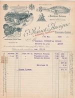 Facture Illustrée 21/5/1919 BASSOT & AUVIGNE Bonbons à La Mécanique Et Bonbons Suisses - Dragées CHALON S Saône Et Loire - France
