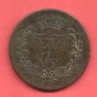 5 Centesimi , ITALIE , SARDINIA , Cuivre , 1826 P , N° KM # 100 - Piémont-Sardaigne-Savoie Italienne