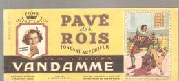 Buvard VANDAMME PAIN D'EPICES PAVE Des ROIS Buvard N°11 - Pain D'épices