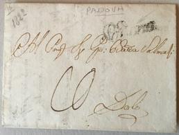 Italy - 1822 Entire Letter - Padova - 1. ...-1850 Prephilately