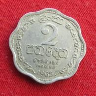 Sri Lanka Ceylon 2 Cents 1965 Wºº - Sri Lanka