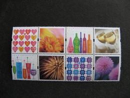 HONG-KONG : TB Série N° 1297A Au N° 1300A, En Bloc De 4 Avec Vignettes, Neuf XX. - 1997-... Chinese Admnistrative Region