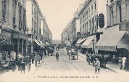 CPA - France - (37) Indre Et Loire - Tours - La Rue Nationale - Tours