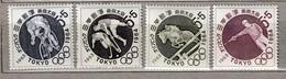 JAPAN 1963 Sport Olympic Games MNH (**) Mi 846-849 #23702 - 1926-89 Emperor Hirohito (Showa Era)